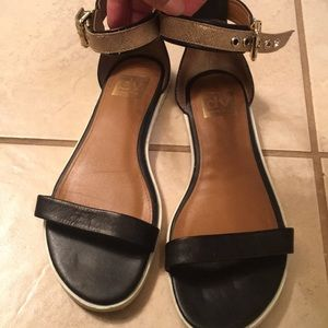 Dolce Vita Gold and Black Sandals
